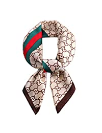 K-Elewon Silk Scarf Women's Large Square Satin Hair Scarf 27.5 x 27.5 inches