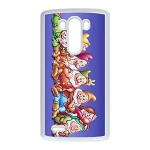 LG G3 White phone case Disney Cartoon Comic Series Snow White and the Seven Dwarfs OLR3103507