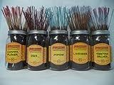 Wildberry Incense Sticks Florals & Greens Scents Set #1: 20 Sticks Each of 5 Scents, Total 100 Sticks!