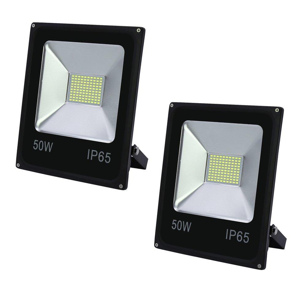 VINGO 2x 30W LED Fluter Warmweiß Flutlicht Außen Strahler 2400lm Wasserdicht Scheinwerfer Objektbeleuchtung 3000-3200K IP65 fsders B-2-HG4243