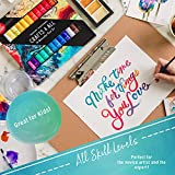 Watercolor Paint Set by Crafts 4 All 24 Premium