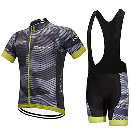 Fietssport, korte mouwen, set fietsshirt, voor dames en heren, korte mouwen + broek, 9D-bekleding, set personalisatie…