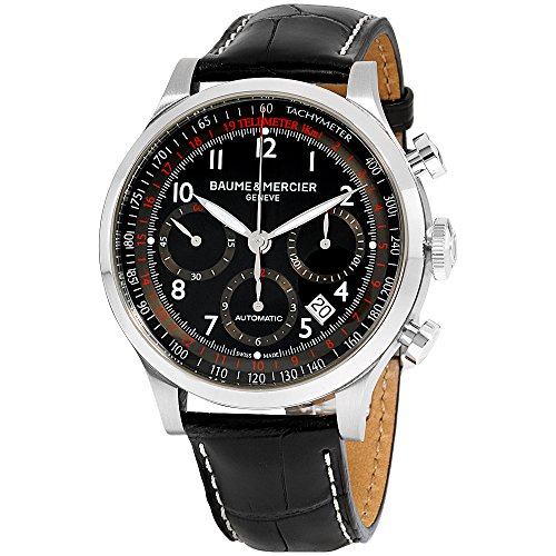 Baume Mercier Mens Watches - Baume & Mercier Men's BMMOA10084 Capeland Analog Display Swiss Automatic Black Watch