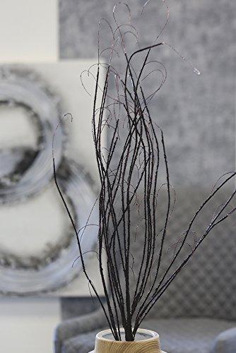 Dekozweig Curly braun Höhe 100 cm, Zweig, Pflanze, Tischdeko, Deko Casablanca