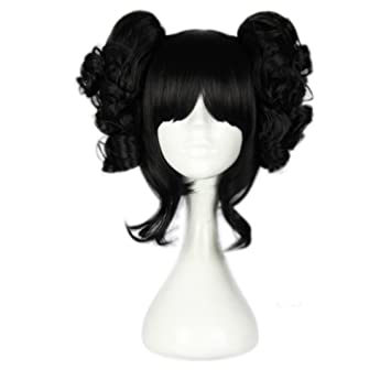 Sunny Business Anime Black Curly Lolita Pigtail Of Cosplay Wigs