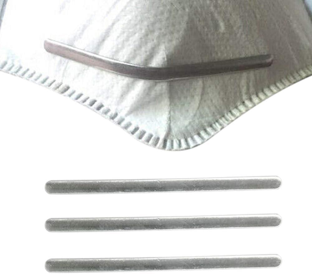 Msleep 100Pcs 90mm Aluminium Strip Nose Bridge f/ür Gesicht DIY Herstellung Zubeh/ör Handwerk