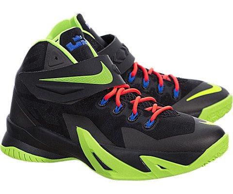 Nike Soldier VIII (Kids) - Black / Hyper Cobalt-Bright Crimson-Electric Green, 4.5 M US