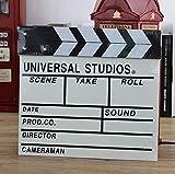 "Sherlcoker 7.8""x8""/20cm x 21cm Wooden Clapboard Director's Film Movie Clapper Boards Slate (White)"