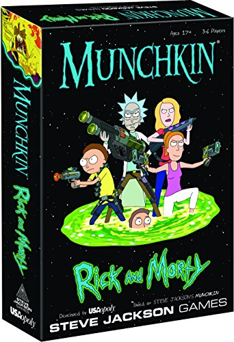 MUNCHKIN: Rick And Morty Card Game | Rick and Morty Adult Swim Munchkin Board Game | Officially Licensed Rick and Morty Merchandise | Munchkin Game from Steve Jackson Games (Rick And Morty Universe In A Box)