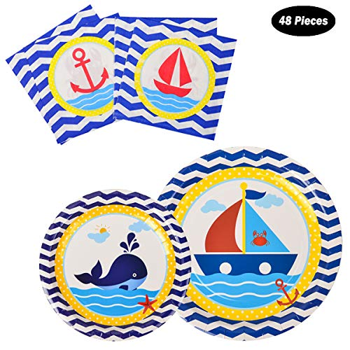 fete Nautical Disposable Tableware Birthday product image