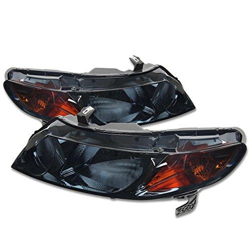 For Honda Eighth Generation (8th Gen) FA FD 4-Door Smoke Headlight Amber Lens