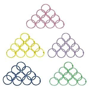Amazon.com: Llaveros de metal con anillos de hojas de papel ...