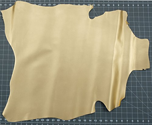Deerskin Leather Hide - Kid Skin Goat Leather Hide Gold Satin Italian 3-5 sq.f Shoes Bags Wallets