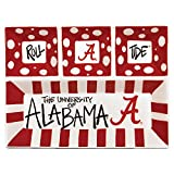 Magnolia Lane Collegiate Ceramic 4 Section Divided Tray (Alabama Crimson Tide)