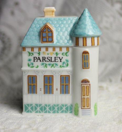 (Parsley 'Lenox Spice Village' Porcelain Victorian House Spice Jar)