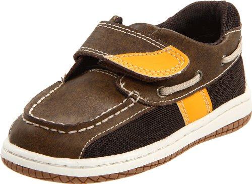Jumping Jacks Sailor Boat Shoe (Toddler/Little Kid),Brown Oiled Leather/Gold Trim,11.5