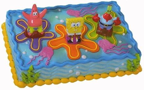 Amazon.com: SpongeBob SquarePants Lanchers Cake Topper Set: Kitchen ...