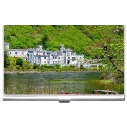 Kylemore Abbey Ireland Business Credit Card Holder Case ()
