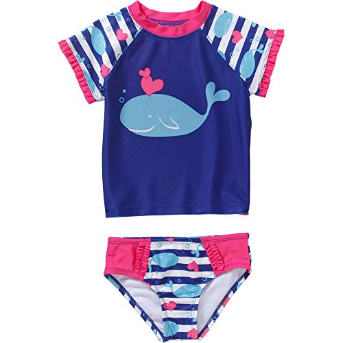 2-piece Swimwear Rashguard Set (5T, Whale) (Toddler Girls Two Piece)