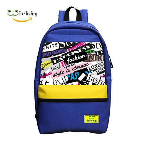 Fashion London School Bag Student Backpack for Children Blue
