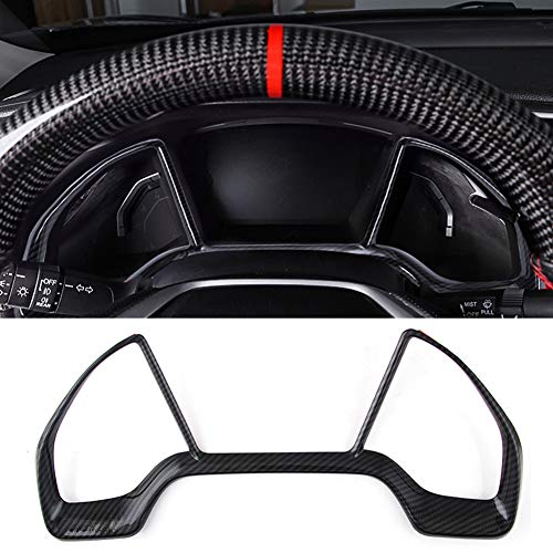 AmgLeeap Custom Fit for 10th Gen Civic Dash Board Instrument Panel Dial Dashboard Trim Cover Frame, ABS Style Decal,Interior Moulding Accessories for Honda Civic 2019 2018 2017 2016 (Carbon Fiber)