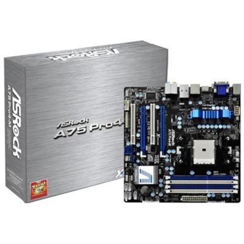 ASRock MB-A75PR4M Socket FM1/ AMD A75 FCH/ AMD Quad CrossFireX/ SATA3&USB3.0/ A&GbE/ Micro ATX Motherboard - A75 Power Jack