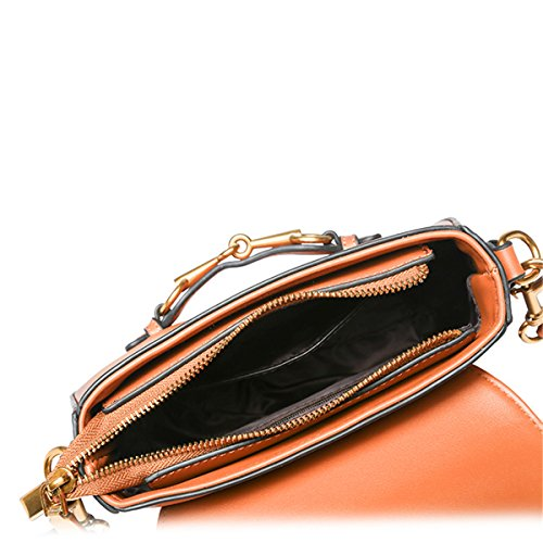 Retro portasilla moda bolso Bolso Messenger hembra, rojo (trompeta) Negro (trompeta)