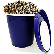 """Seed Sprouter Pot,Green Health Bean Sprouting Device 5.91""""x5.91""""x5.51"""" with Inner bucket,Outer bucket and Pressure plate"""