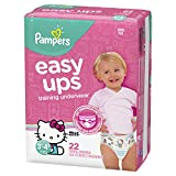 Pampers Easy Ups Pull On Disposable Training Diaper for Girls, Size 5 (3T-4T), Jumbo Pack, 22 Count