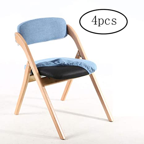 Silla plegable, silla del respaldo, silla de cena lavable ...