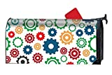 BABBY Fashion Magnetic Mailbox Cover - Gear Machine,Decorative Mailbox Wrap for Standard Size