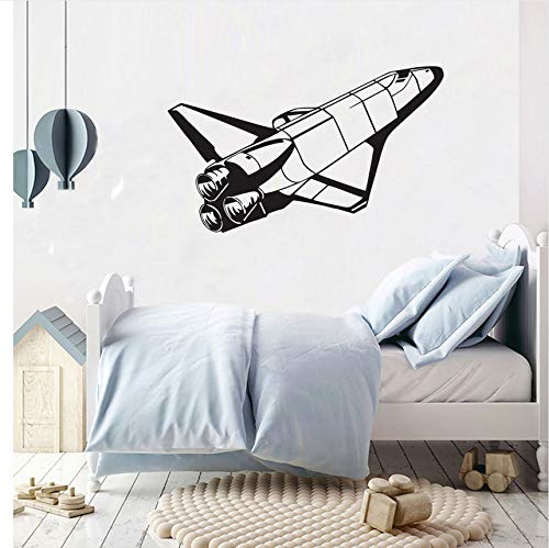 LSFHB Space Shuttle Space Wall Stickers for Kids Rooms Rocket Murals Wall Decals Vinyl Removable Home Decor Stickers59X35.5Cm