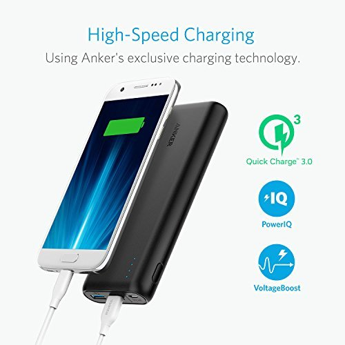 Anker PowerCore Speed 20000, 20000mAh Qualcomm Quick Charge 3.0 & PowerIQ Portable Charger, with Quick Charge Recharging, Power Bank for Samsung, iPhone, iPad and More by Anker (Image #1)