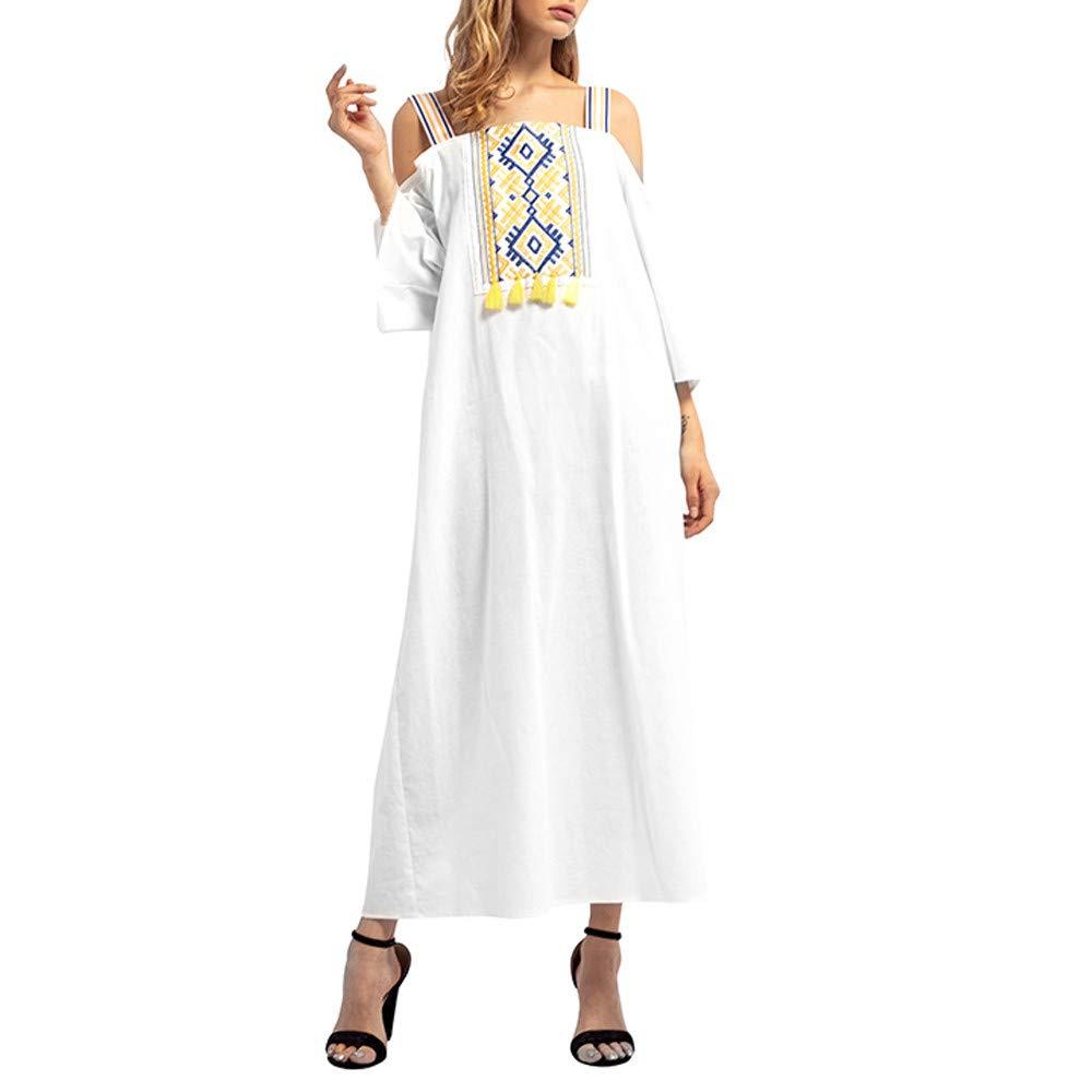 Mujer maxi Rock felicove, bordado con mangas largas Musulmán ...