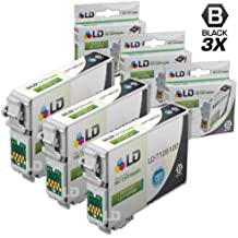 LD Products Remanufactured Ink Cartridge Replacement for Epson 126 ( Black , 3-Pack )