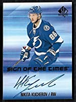 2015-16 SP Authentic Sign of the Times Autograph Nikita Kucherov - Tampa Bay Lightning