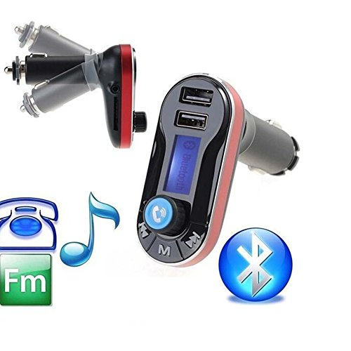 EinCar PUPUG Car Mp3 Player Bluetooth Handsfree Car Kit/Adapter FM Transmitter/MP3 Player, Dual USB Ports for Cellphones Power/Battery Charge