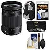 Sigma 18-300mm f/3.5-6.3 Contemporary DC Macro OS HSM Zoom Lens for Nikon DSLR Cameras with Sling Backpack + 3 UV/CPL/ND8 Filters + Kit