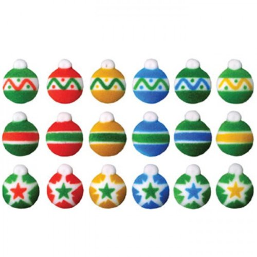 Mini Ornaments Christmas Sugar Decorations Cookie Cupcake Cake 12 Count ()