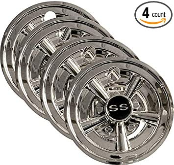ef0a0805623 Image Unavailable. Image not available for. Color  3G Set (4) 8 quot  SS  Chrome Wheel Covers for EZGO