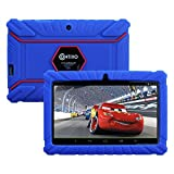 HOLIDAY SPECIAL! Contixo KiDOZ Kid Safe 7'' HD Tablet WiFi 8GB Bluetooth, Free Games, Kids-Place Parental Control W/ Kid-Proof Case (Dark Blue) - Best Gift For Christmas