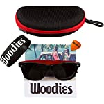 Woodies Rose Wood Sunglasses with Polarized Lenses 13 BONUS ITEMS: FREE Carrying Case, Lens Cloth, and Wood Guitar Pick BUY WITH CONFIDENCE: 30-Day Money Back Guarantee