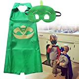 Best-topshop Kids Cape Masks Owlette Catboy Cosplay Party Costume Masks (Green)