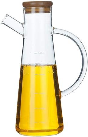 capacit/à 500 ml Excelsa Oliera con Tappo in Sughero Vetro Riciclato