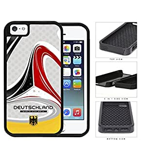 Germany Deutschland Brazuca Design Red Black and Yellow World Cup FIFA 2014 Champions 2-Piece High Impact Dual Layer Black Silicone Cell Phone Case iPhone i5 5s