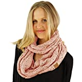 ski cowl - CC Confetti Soft Chunky Pullover Knit Long Loop Infinity Hood Cowl Scarf Indi Pink