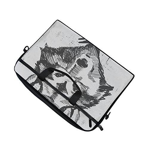 jstel Wolf Laptop Schulter Messenger Tasche Fall Sleeve für 35,6cm zu 39,6cm mit verstellbarer Notebook Schultergurt