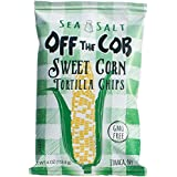 Off the Cob Sweet Corn Tortilla Chips Sea Salt, 4 oz, 12 pack