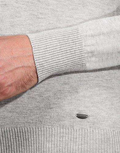 Et Tricoté L'automne L'hiver Montant Col Coupe Vincenzo over Pull Pour 4 longue Chic Côtelé Homme Chaud Étroite À gris Boretti Uni Manche wFTU7tqZ