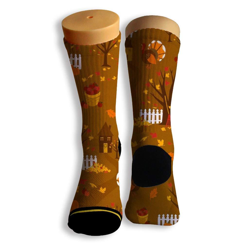 Basketball Soccer Baseball Socks by Potooy Freaky Pumpkin 3D Print Cushion Athletic Crew Socks for Men Women
